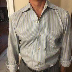 Men's Blue and Yello Barba Dress Shirt